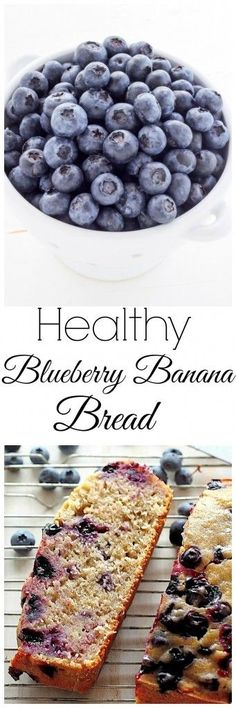Banana bread gets a fruitful update with a bowl full of blueberries and bursting with flavor.