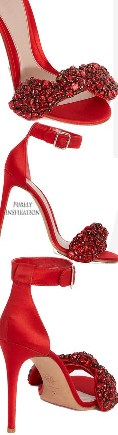 Alexander McQueen Bow Embroidered Sandal | Purely Inspiration