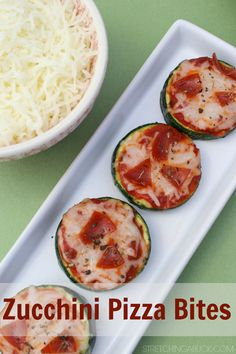 Super easy and healthy Zucchini Pizza Bites Recipe! Great for snacking or a light meal!