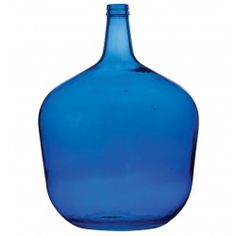 Recycled Italian Glass Prism Cobalt Blue Bottle 20 Liters   sale  $22. 56 2-5-15
