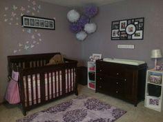 #Baby girl nursery #purple nursery My sister is amazing!! Nice work :)