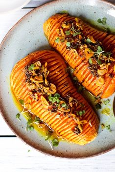 Butternut Squash Hasselbacks with Indian spices