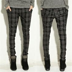 Buy 'ABOKI – Tapered Plaid Pants' at YesStyle.com plus more South Korea items and get Free International Shipping on qualifying orders.