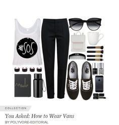 "Check out all the Vans outfit inspiration Polyvore posted in their ""You Asked: How to Wear Vans"" editorial. More like this at vans.polyvore.com"