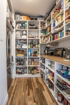 Kitchen pantry ideas with form and function 01 - GODIYGO.COM - Diy Kitchen Pantry Cabinet // Dyi Pantry Cabinet // Pantry Cabinet Ideas Diy // Pantry Cabinet Ideas Dream pantry. Kitchen Pantry Design, Kitchen Pantry Cabinets, Kitchen Organization Pantry, Diy Kitchen, Kitchen Storage, Kitchen Decor, Kitchen Ideas, Organization Ideas, Storage Ideas