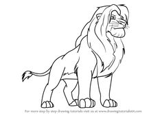Learn How to Draw Simba from The Lion King (The Lion King) Step by Step : Drawing Tutorials