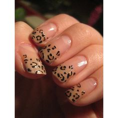 Incredibly Easy DIY Nail Art Idea Leopard Print ❤ liked on Polyvore