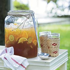 Gotta have lemonade iced tea for the party. Around here we call that an Arnold Palmer. I know not why.