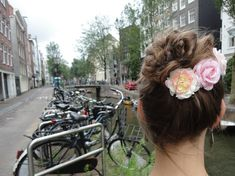 Flowered High Bun