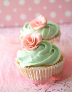 Mint and pink. Soft and pretty.