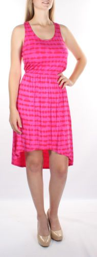 $69 NEW KENSIE Knee-Length Pink Sleeveless Striped A-Line Dress 1276 XS BAB