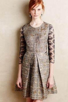San & Soni Gilt Jacquard #Dress #anthrofave