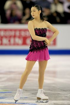 I love the black lace over pink. Great effect! ... ... ... ice skate dress...   Haruka Imai