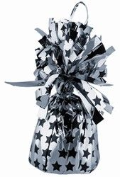 Have your guests seeing stars at your Hollywood party….literally with Silver Balloon Weight with Printed Black Stars. This balloon weight is made of silver metallic foil with a print of black stars. Complementary to any Hollywood themed party #hollywoodprom #partycheap