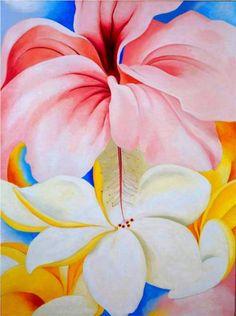 Hibiscus with Plumeria~Georgia O'Keeffe