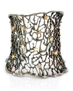 Atelier Minyon - Oxidized Silver Web Cuff