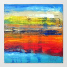 Horizon Blue Orange Red Abstract Art Poster by art-by-lang Red Abstract Art, Abstract Watercolor, Fine Art Prints, Canvas Prints, Diy Frame, Metal Wall Art, Blue Orange, Modern Art, Vibrant Colors