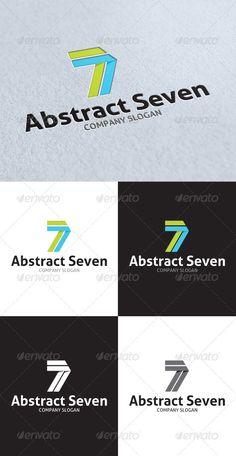 Abstract Seven Logo Seven Logo, 7 Logo, Studio Logo, Company Slogans, Logo Templates, Typo, Stationary, Numbers, Fonts