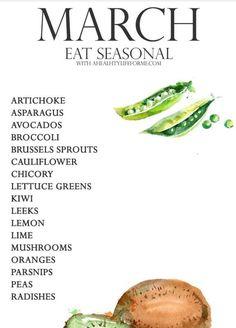 March vegetables in season