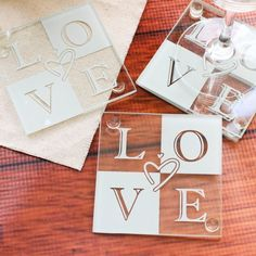 Glass Love Coasters by Beau-coup