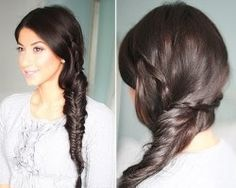 Cute, Spring Fishtail Braid Hairstyle