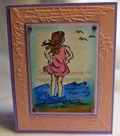 br Dirty Watercoloring - stamps from retired Stampin Up! set called Seaside Sketches