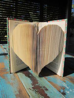book paper heart