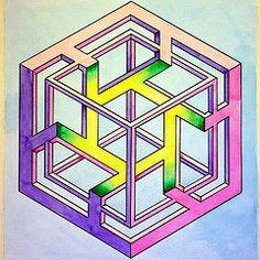20140502 (regolo54) Tags: pattern mc escher tessellation opticalillusion isometric penrose impossible isometricpattern
