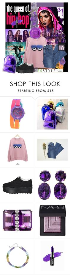 """Amethyst Fantasy"" by anniecy ❤ liked on Polyvore featuring мода, H.I.P., Nicki Minaj, Collezio, Youme, DANI LOVE, ssongbyssong, Pixie Pair, NARS Cosmetics и Glitzy Rocks"