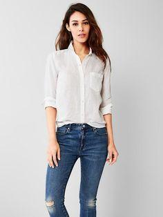 Voila shop my style Gap white shirt