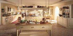 Cucina colori caldi moderni