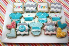 Royal Icing #BabyShower Cookie Collection made by @Cherylin Tiefel  | spotofteadesigns.com