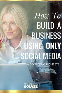 SUPER Detailed post about how to build a business using only social media. Strategies to grow a business without even needing a website.