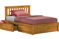 Rosemary Platform Captains Storage Bed Frame Oak