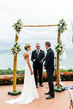 Destination Wedding at La Mariposa Hotel - Playa Manuel Antonio, Costa Rica  - Photographer A Brit & A Blonde - Full Post: http://www.brideswithoutborders.com/inspiration/stunning-panoramic-wedding-in-costa-rica-by-a-brit-a-blonde