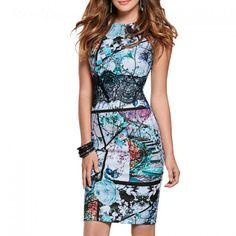 Elegant Floral Lace Printed Dress //Price: $22.38 & FREE Shipping //     #womensfashion