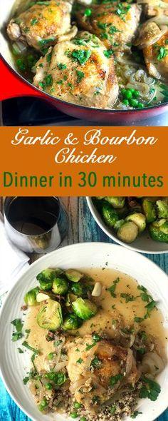Bourbon and Garlic Whiskey Chicken Recipe