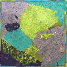 "CITRONNE Acrylic & Cut Paper on Canvas 12"" x 12"""