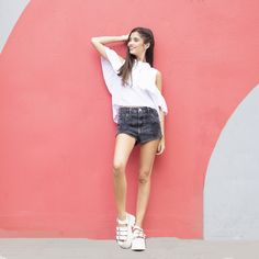 [ LOOK DEL DIA ]      Modelo: @julietasoe     Ph: @lucarnevaleph   MakeUp: @alinelanusse.mkp y @agostinabadaraccomakeup  #SoydeGrecia #fashion