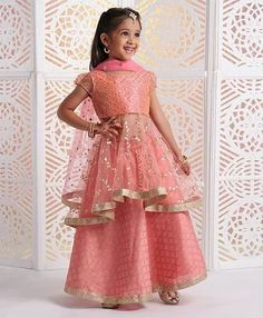 by shenvikamat BlousesSource by shenvikamat Blouses Exciting Lace Scoop Neckline Tea-length A-line Prom Dress With Sash & Handmade Flowers With Beadings Rose Pink Layered Lehenga Set Prom Dresses 2018 Indian Dresses For Kids, Indian Gowns Dresses, Gowns For Girls, Frocks For Girls, Kids Frocks, Girls Dresses, Prom Dresses, Baby Girl Dresses Diy, Kids Party Wear Dresses