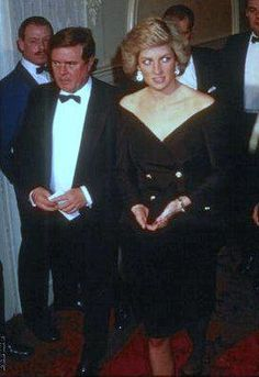 "October 20 1988 Diana, Patron, London City Ballet, and her father, attend a Gala Performance of ""Swan Lake"" in aid of London City Ballet Trust Ltd, given by the company at the Derngate in Northampton"