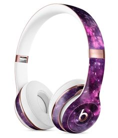 ef2ac6ab512 Vibrant Purple Deep Space Full-Body Skin Kit for the Beats by Dre Solo 3 Wireless  Headphones. Over Ear ...