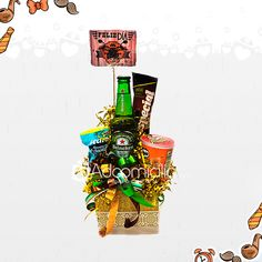 Party In A Box, Bouquet, Feelings, Crafts, Ideas, Custom Crates, Gifts, Amor, Easy Boyfriend Gifts