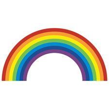 Rainbow wall sticker  from Spin Collective £16