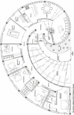 Snail house plan, it's in Spanish but you can figure it out: