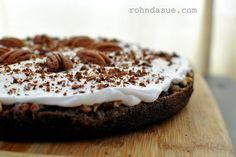 Chocolate Praline Cake, grain free, sugar free, low carb, full flavor!