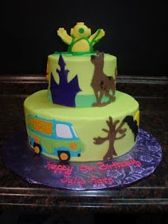 Scooby Cake, need to do this for Hayden!