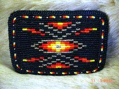 BEAUTIFUL Vintage Geometric Native American Style Belt Buckle BEADED #Handmade #Classic
