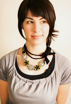 Mademoiselle | Berroco.. Free pattern for making this pretty necklace!