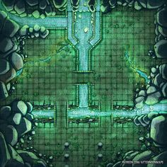 Afternoon Maps is creating RPG and DnD battlemaps Dungeon Tiles, Dungeon Maps, Dungeons And Dragons Homebrew, D&d Dungeons And Dragons, Fantasy City, Fantasy Map, Pathfinder Maps, Rpg Map, Cool Backgrounds